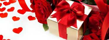Roses Flowers Gift Ribbon Heart Love Cover Photo