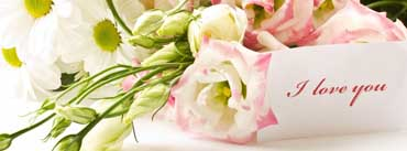 Flowers Bouquet Note I Love You Cover Photo