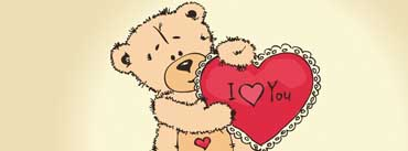 Teddy Bear Drawing Heart Cover Photo