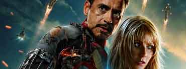 Iron Man 3 Tony Stark And Pepper Potts Cover Photo