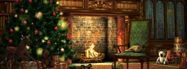 Christmas Tree Fireplace Cover Photo