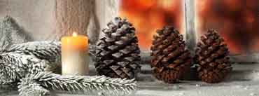 Christmas Pine Cones Candle Cover Photo