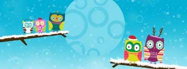 Happy Owlidays Snow Cover Photo