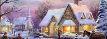 Christmas Snow Houses Cover Photo