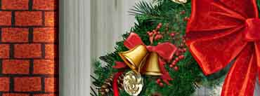 Christmas Wreath Red Ribbon Cover Photo