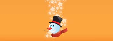 Snowman Orange Background Cover Photo