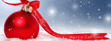 Merry Christmas Red Ornament Cover Photo