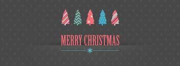 Merry Christmas Dark Background Cover Photo