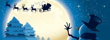 Snowman Santa Claus Illustration Cover Photo