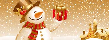 Snowman Giving Gift Cover Photo