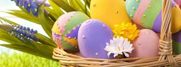 Purple Yellow Easter Eggs Cover Photo