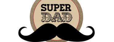 Super Dad Mustache Cover Photo