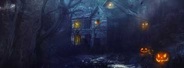Scary Halloween Haunted House Cover Photo