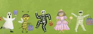 Kids Halloween Trick Or Treat Cover Photo