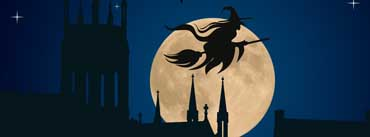 Halloween Witch Flying Cover Photo