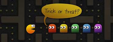 Pacman And Ghosts Halloween Cover Photo