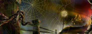 Spider Web Halloween Cover Photo