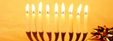 Hanukkah White Candles Cover Photo