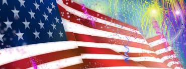 Usa Flag Fireworks Happy July 4th Cover Photo