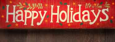 Happy Holidays Banner Cover Photo