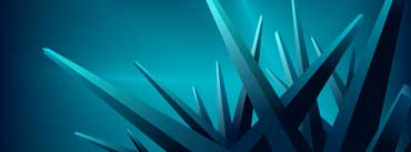 Blue 3d Crystals Cover Photo