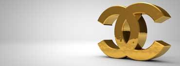 Golden Chanel Logo Cover Photo