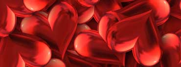 Happy Valentines Day Hearts Cover Photo