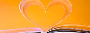 Open Book Heart Cover Photo