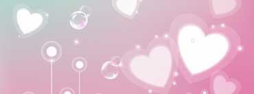 Pastel Valentine Hearts Cover Photo
