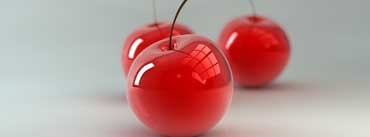 3d Glass Cherries Cover Photo