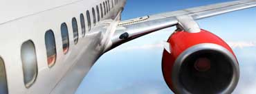 Aircraft Red Engine Cover Photo