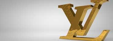 Golden Louis Vuitton Logo Cover Photo
