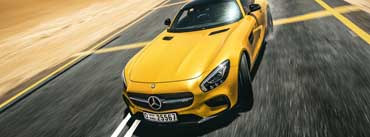 Yellow Mercedes Sport Car Cover Photo