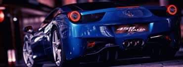 Ferrari 458 Italia Blue Cover Photo