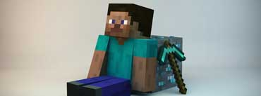 3d Minecraft Guy Cover Photo