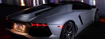 Lamborghini Aventador At Night Cover Photo