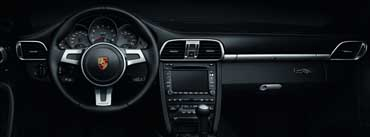 Porsche Black Steering Wheel Cover Photo