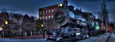 Christmas City Locomotive Railway Cover Photo