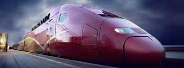 Red High Speed Train Cover Photo