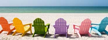 Colorful Beach Chairs Cover Photo