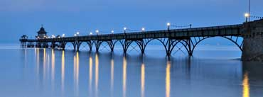 Clevedon Pier At Dusk Cover Photo