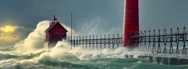 Lighthouse Stormy Ocean Cover Photo