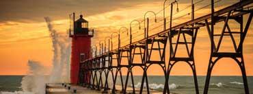 Sea Lighthouse Big Wave Cover Photo