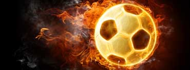 Fire Soccer Ball Cover Photo