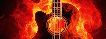 Fire Guitar Cover Photo