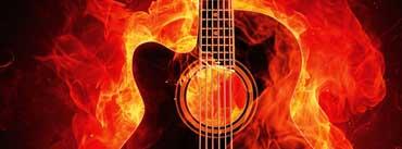 Fire Guitar Cover Photo