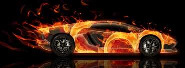 Fire Lamborghini Aventador Cover Photo