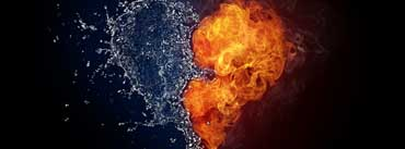 Water And Flames Heart Cover Photo