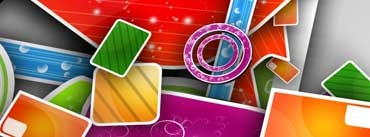 Colorful Abstract 3d Art Cover Photo