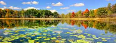Beautiful Lake Scenery Autumn Cover Photo